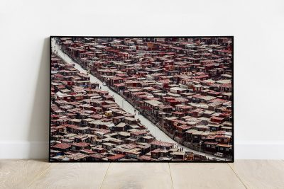 Top view of the streets of Larung Gar print