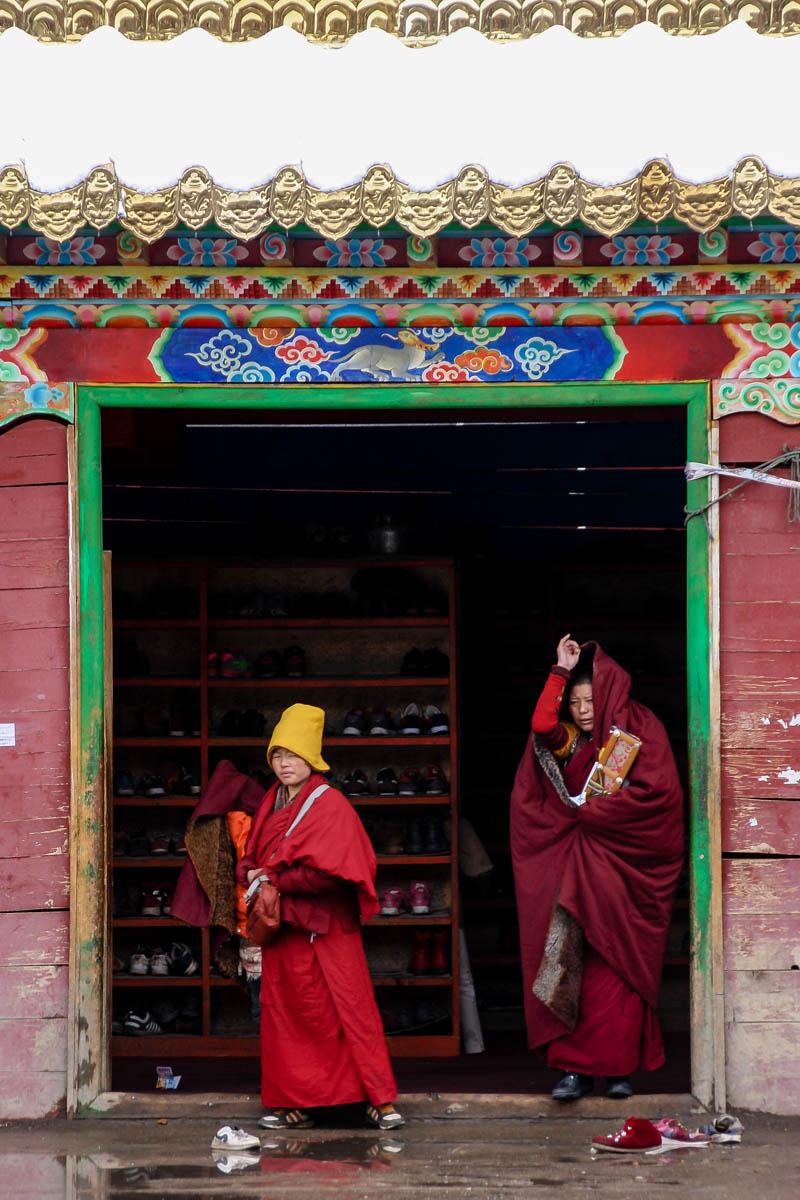 Young monks in Larung Gar, China