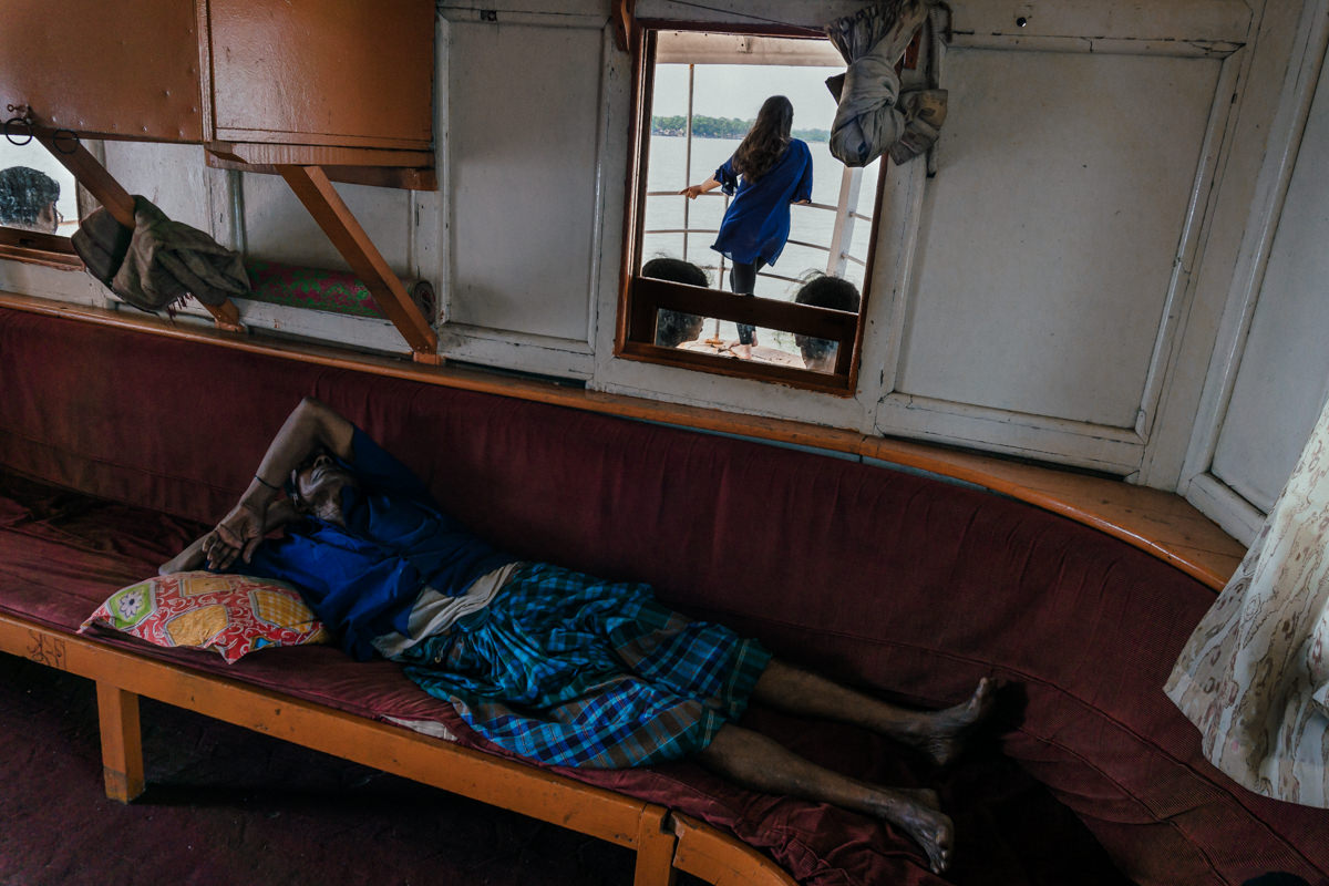 Traveling in the Paddle Steamer (The Rocket), in Bangladesh
