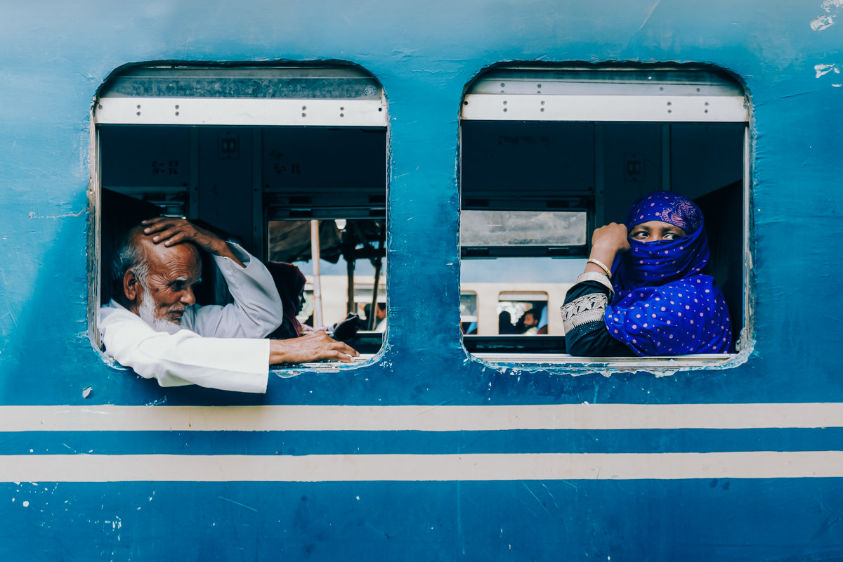 Passengers in a train to Syleth, Bangladesh