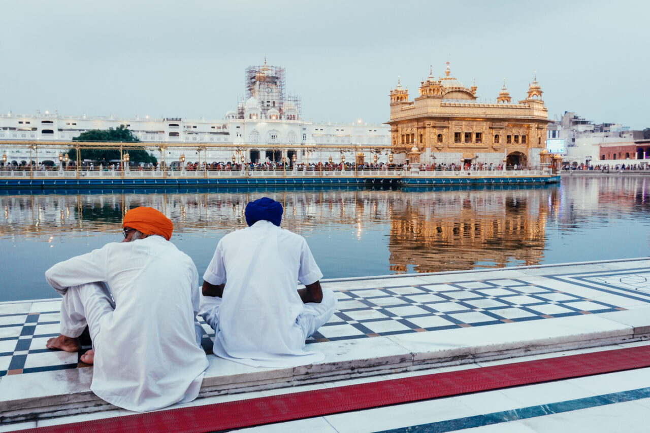 Resting in the Golden Temple of Amritsar, India