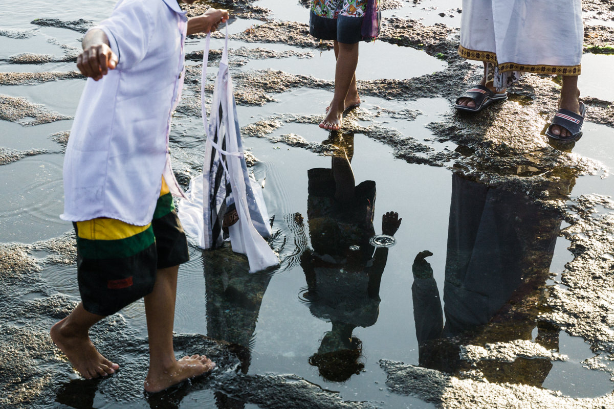 Reflections with the low tide, near Tanah Lot, Bali