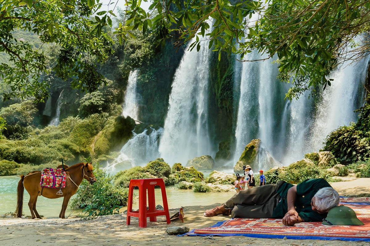 Ban Gioc Waterfalls, in North Vietnam