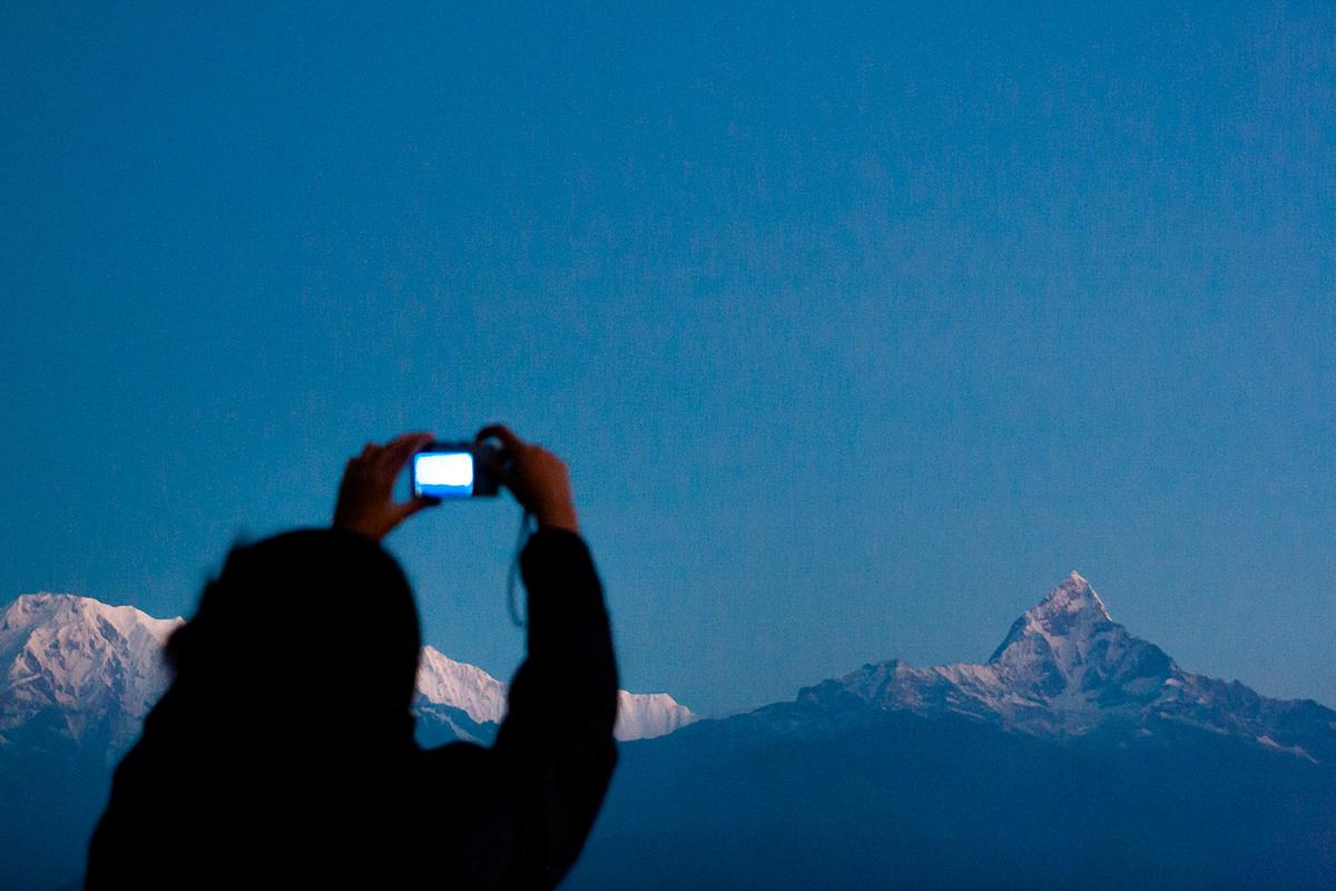 Views of Machapuchare, Pokhara, Nepal