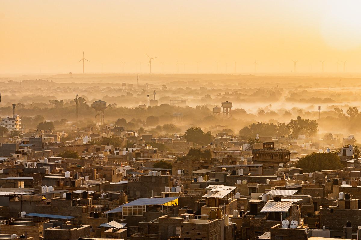 Sunrise in Jaisalmer, India