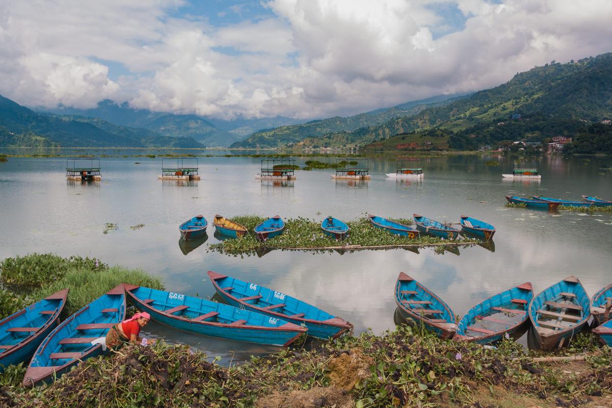 Pokhara lakeside, Nepal