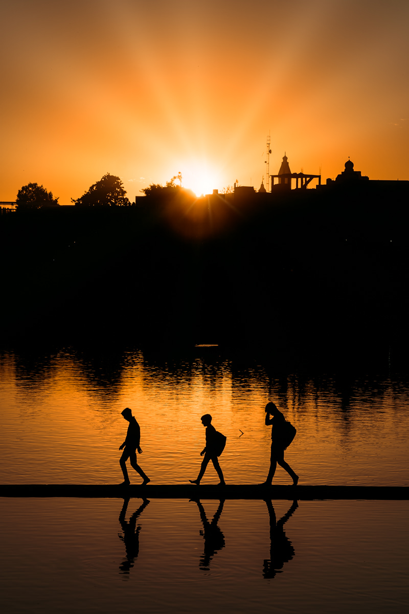 Silhouettes at Sunset in Pushkar, India