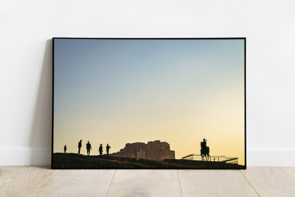 Mehrangarh fort at sunset in Jodhpur