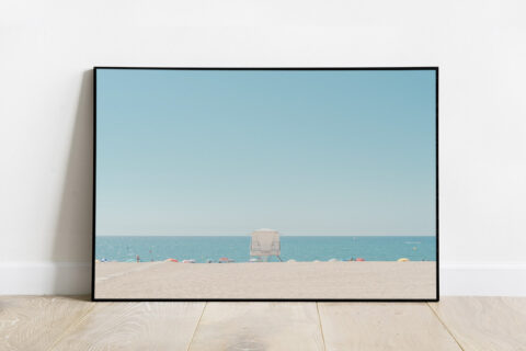 Print of beach horizon in Barcelona