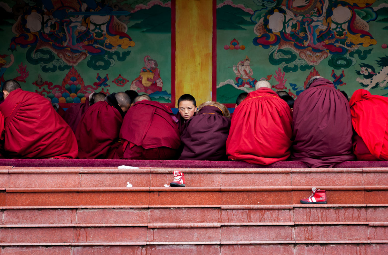 "Gathering of Buddhist monks and novices in Larung Gar. EyeEm Winner 2019 ""The Traveler"""