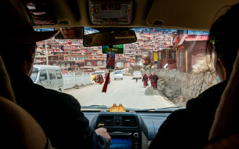 Heading where Sky Burial takes place in Larung Gar, China