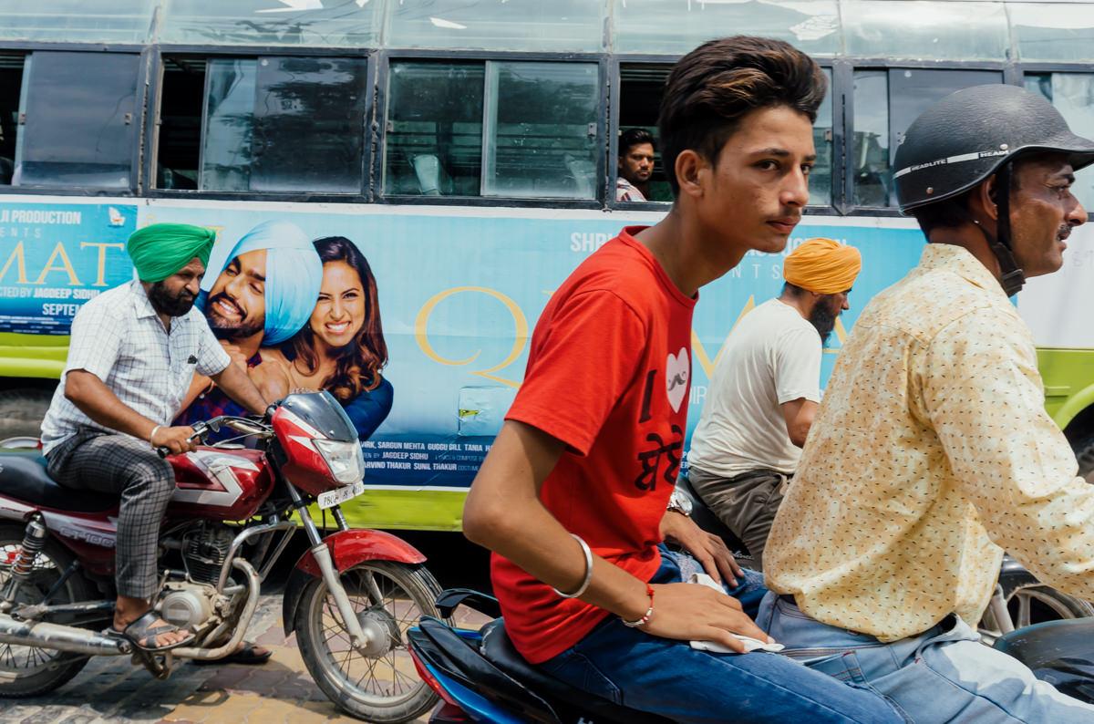 Traffic jam in Amritsar, India