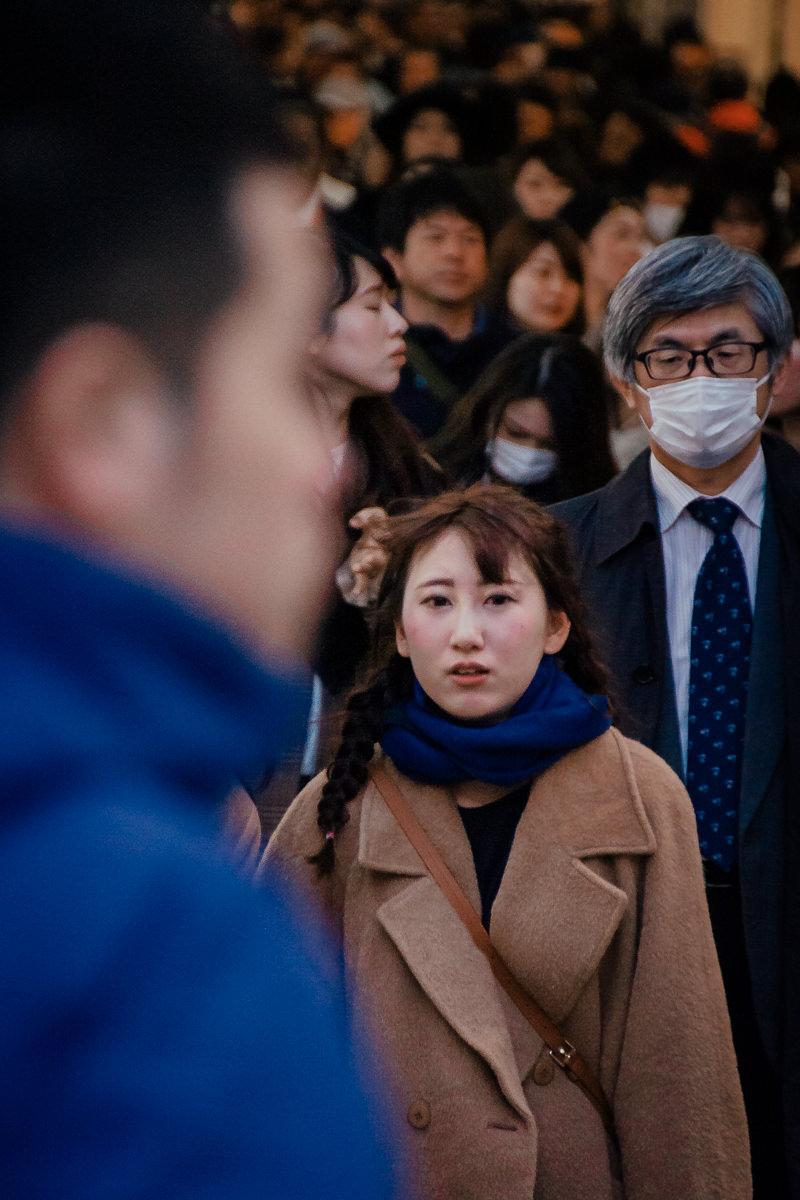 Osaka crowd, Japan